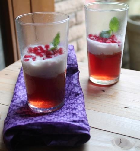 cranberry jelly and vanilla panna cotta