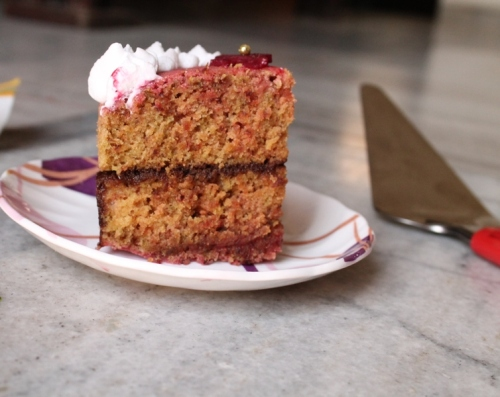 beetroot and wholewheat cake