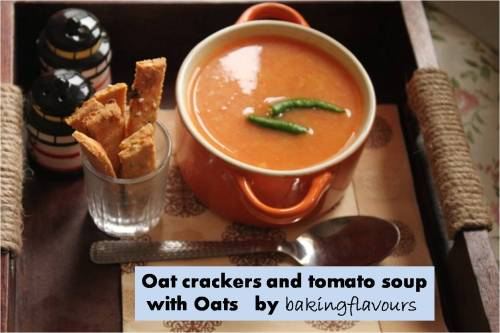 oat crackers and tomato oats soup