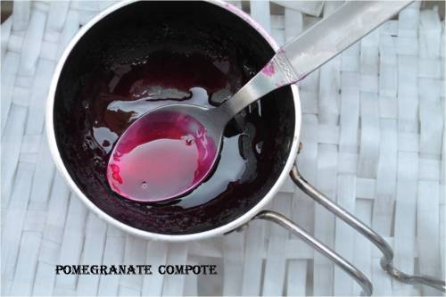 pomegranate compote