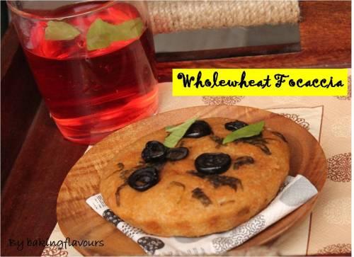 Wholewheat focaccia