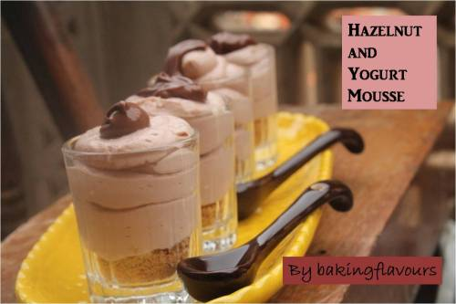 hazelnut and yogurt mousse