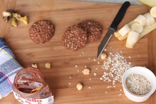 Hazelnut, oats and banana Cookie