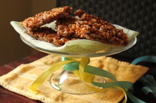 Jaggery rice crispy bars