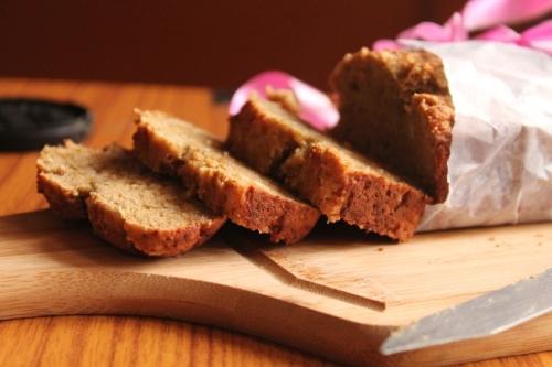 Wholewheat Coconut banana tea loaf