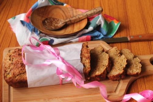whole wheat banana and coconut tea loaf