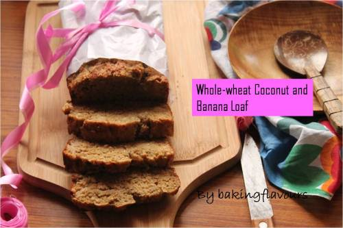wholewheat coconut and banana loaf