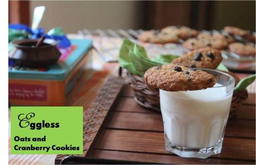 Eggless oats and Cranberry Cookies2