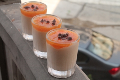 Persimmon and Mozzarell Mousse