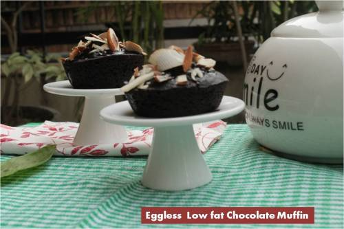 Eggless Low fat Chocolate Muffin