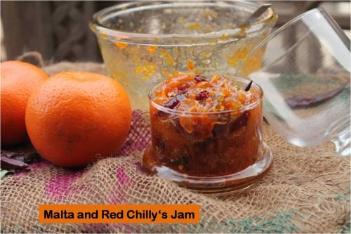 Malta and red chilly's jam