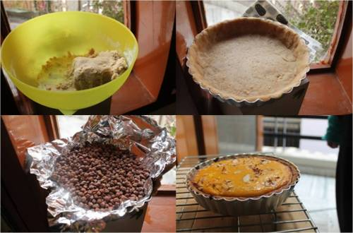 Steps of pumpkin pie
