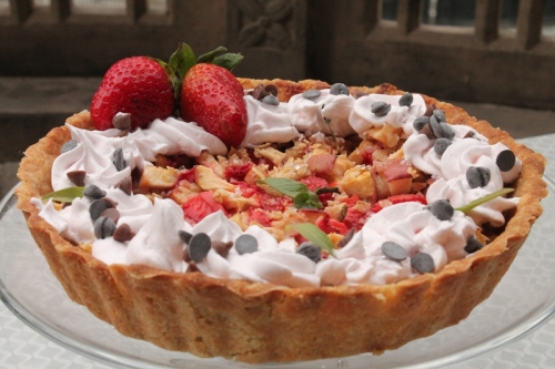 strawberry and apple tart