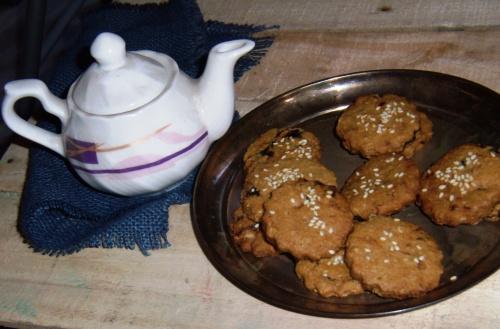 Prune and Sesame Cookies