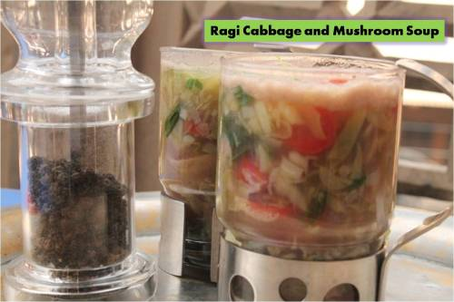 Ragi Cabbage and Mushroom Soup