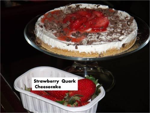 strawberry Quark Cheesecake