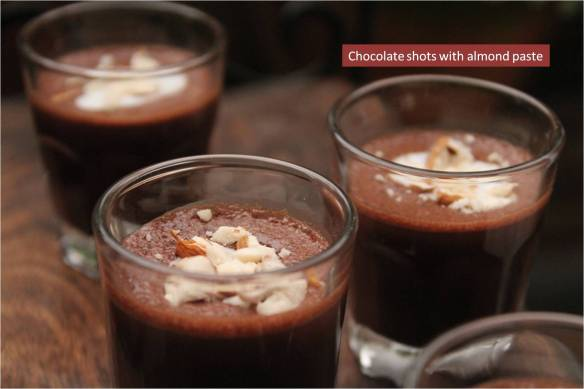 chocolate shots with almond paste1