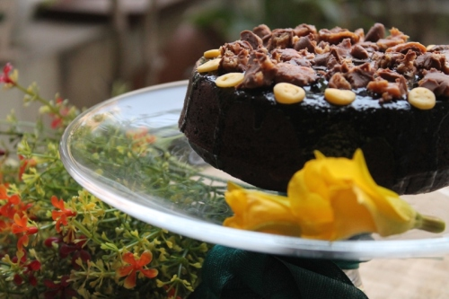 Eggless Chocolate Cake with Amaranth Flour