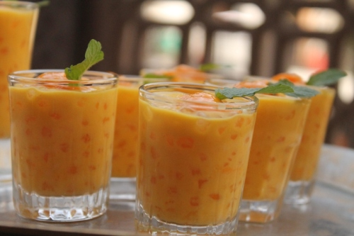 Mango coconut and Tapioca Pudding