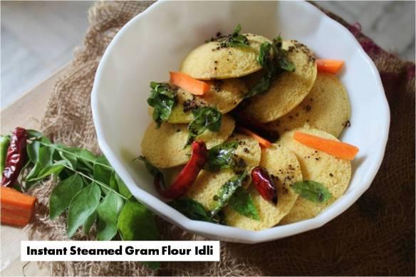 Instant Steamed Gram Flour Idli