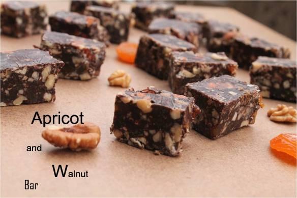apricot and walnut bar