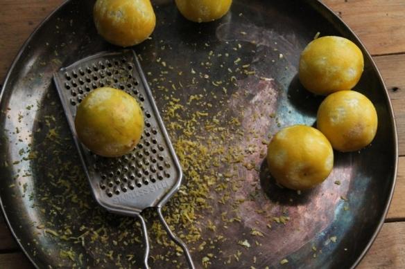zested lemons