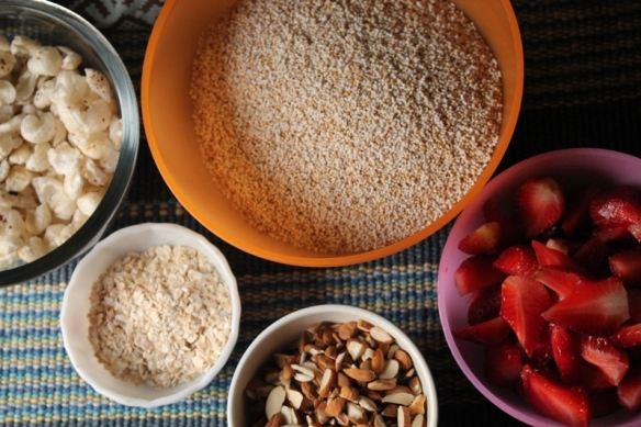 ingredients for muesli