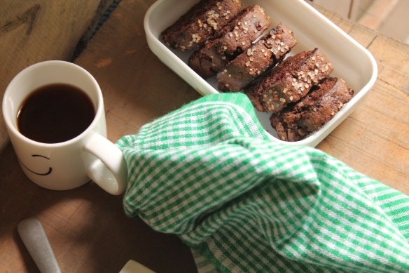 double chocolate and cranberry biscotti
