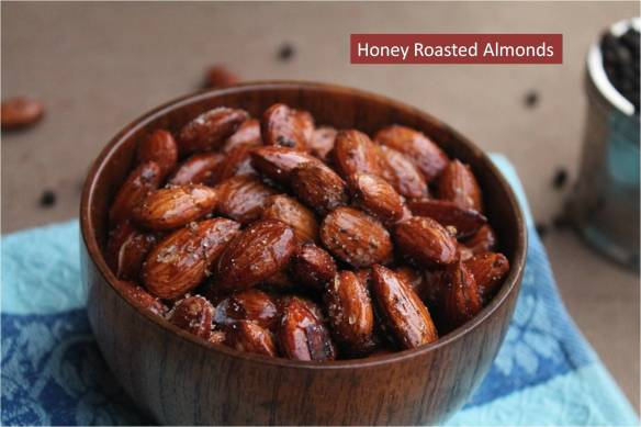 honey roasted almonds1