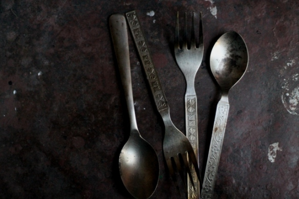 burnt spoons and forks