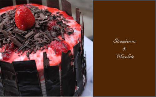 Strawberry and Chocolate Cake