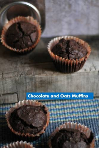 chocolate and oats muffins