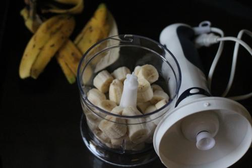 pureed bananas