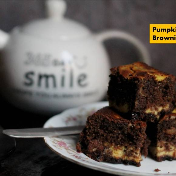 Pumpkin Swirl Brownie