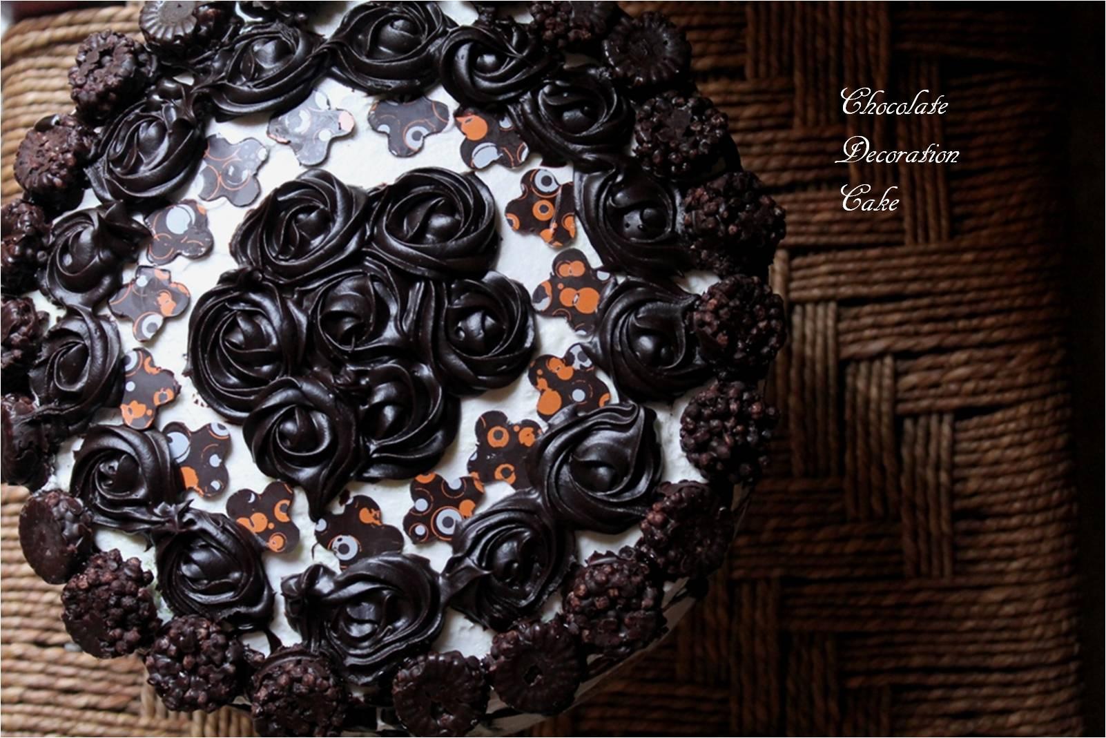Chocolate decoration cake bakingflavours for Decoration 3 chocolat