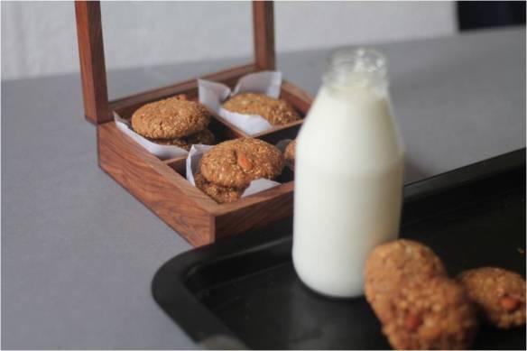 anzac cookies with buckwheat flour