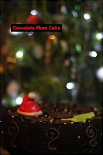 chocolate plum cake