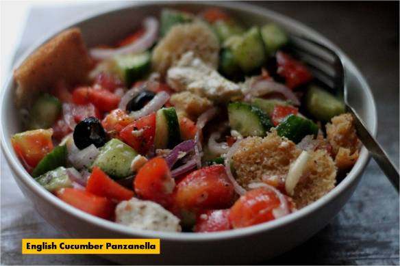 english cucumber panzanella