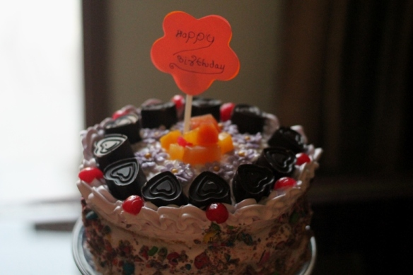 fruit and vanilla cake