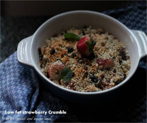 low fat strawberry crumble
