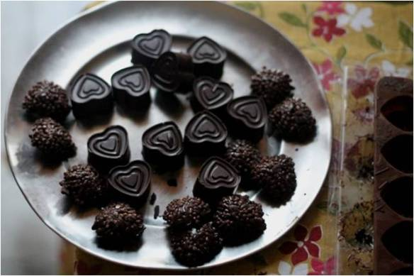 homemade chocolates for decoration