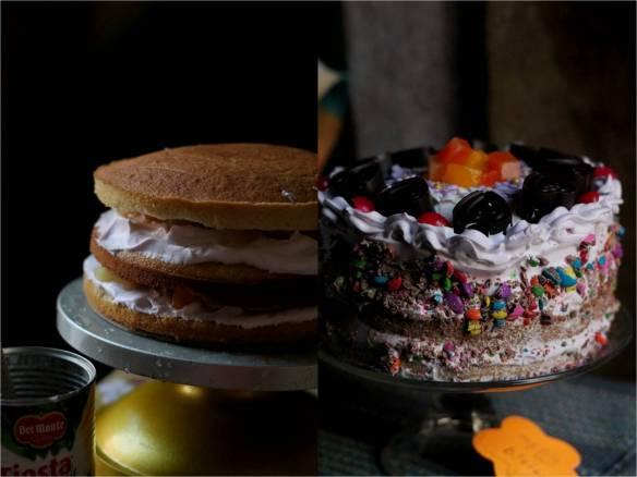 Mixed fruit Vanilla cake