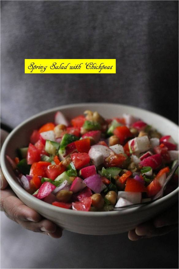 spring salad with chickpeas