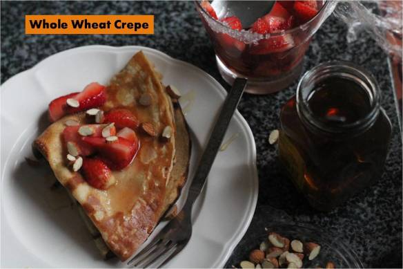 whole wheat honey crepe