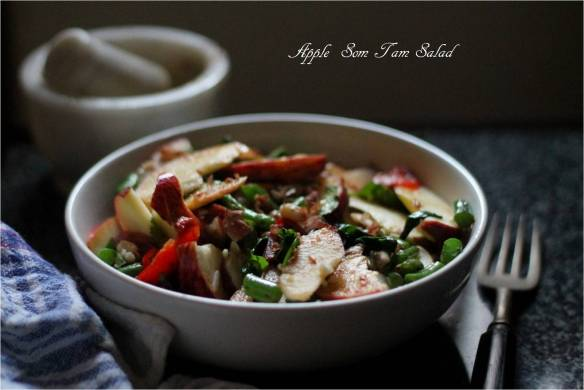 apple som tam salad