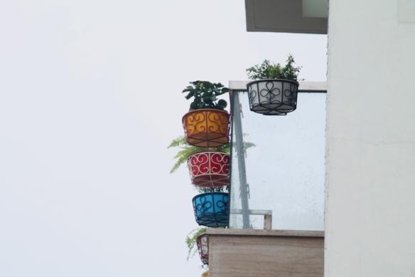 neighbor's balcony