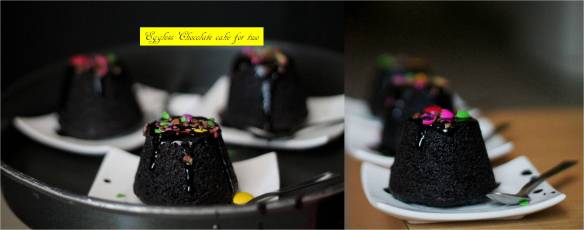 eggless chocolate cake for two