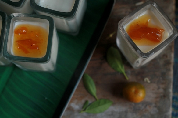 vanilla panna cotta with kumquat jam
