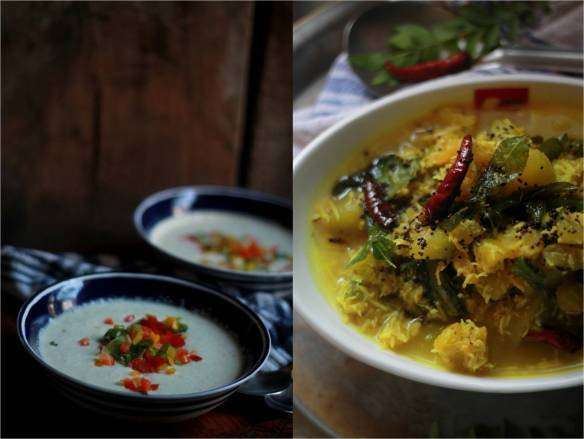 White gazpacho and kumbala curry