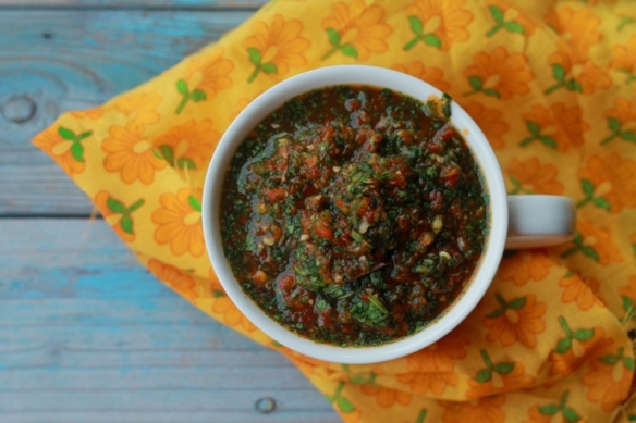 Nigella's chilly and bell pepper sauce